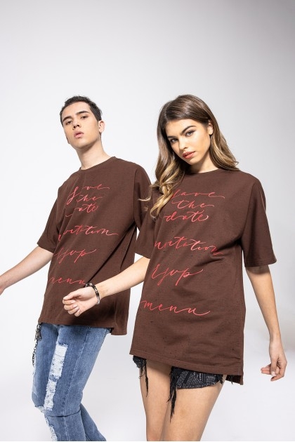 Brownie Syrup Oversize T-Shirt